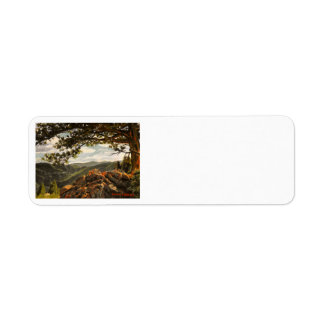 Rocky Mountain View II Oil Landscape Painting Return Address Labels