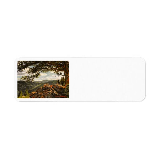 Rocky Mountain View II Oil Landscape Painting Label