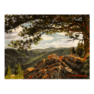 Rocky Mountain View II Oil Landscape Painting Postcard