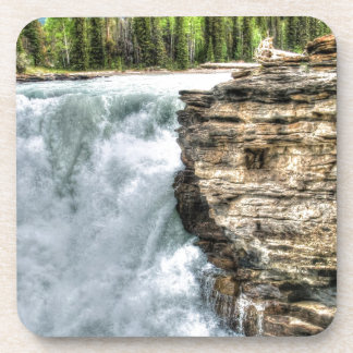 Rocky Mountain Waterfall Nature Photo Drink Coaster