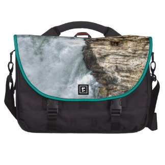 Rocky Mountain Waterfall Nature Photo Laptop Computer Bag