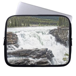 Rocky Mountain Waterfall Nature Photo Laptop Sleeve