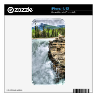 Rocky Mountain Waterfall Nature Photo Skin For The iPhone 4