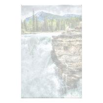 Rocky Mountain Waterfall Nature Photo Stationery