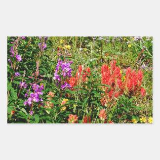 Rocky Mountain Wildflowers Rectangular Sticker