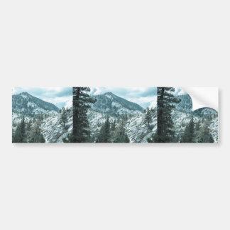 Rocky Mountain With Trees Near Lake Tahoe Car Bumper Sticker