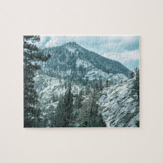 Rocky Mountain With Trees Near Lake Tahoe Jigsaw Puzzle