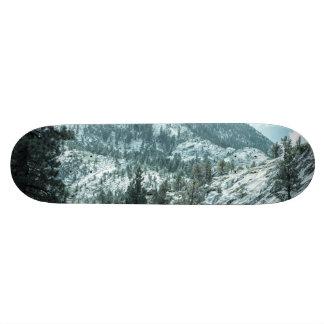 Rocky Mountain With Trees Near Lake Tahoe Skateboard Deck