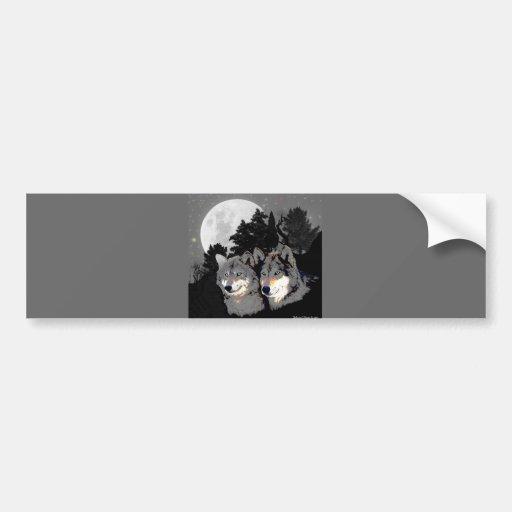 Rocky Mountain Wolves Car Bumper Sticker