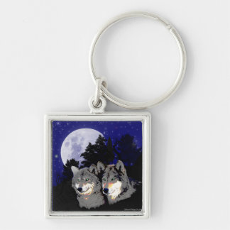 Rocky Mountain Wolves Keychain
