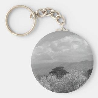 Rocky Mountains BW Keychain