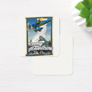 Rocky Mountains by Air! Square Business Card