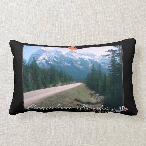 Rocky Mountains Canada 3D View Anaglyph Photo Throw Pillow