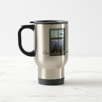 Rocky Mountains Canadian Rockies Window View 15 Oz Stainless Steel Travel Mug