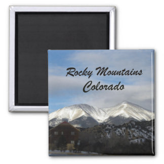 Rocky Mountains, Colorado 2 Inch Square Magnet