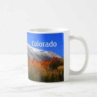 Rocky Mountains, Colorado - AUTUMN Snow Coffee Mug