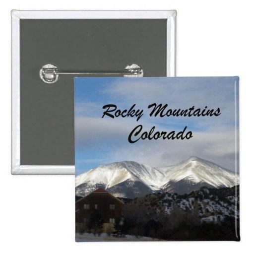 Rocky Mountains, Colorado Pinback Buttons