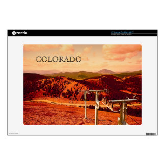 """Rocky Mountains Continental Divide Ski Lift Skin For 15"""" Laptop"""