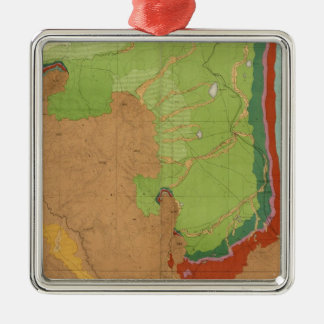 Rocky Mountains Geological Metal Ornament