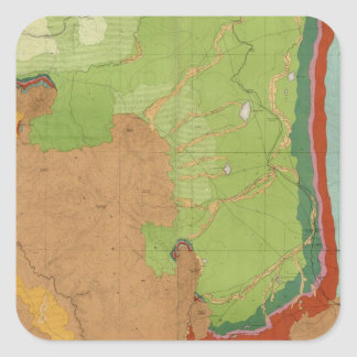 Rocky Mountains Geological Square Sticker