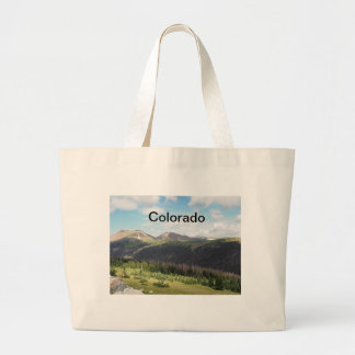rocky mountains in Colorado Large Tote Bag