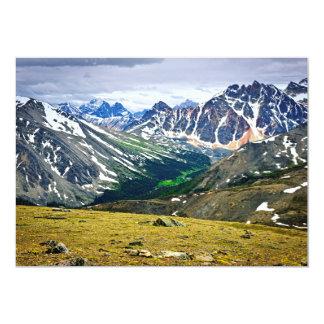 "Rocky Mountains in Jasper National Park, Canada 5"" X 7"" Invitation Card"