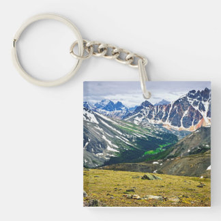 Rocky Mountains in Jasper National Park, Canada Keychain