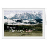 Rocky Mountains in Winter, Birthday, Sister Card
