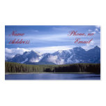 Rocky Mountains Lake Double-Sided Standard Business Cards (Pack Of 100)