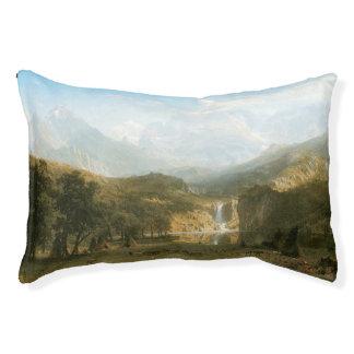 Rocky Mountains, Lander's Peak by Albert Bierstadt Pet Bed