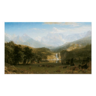 Rocky Mountains, Lander's Peak by Albert Bierstadt Poster