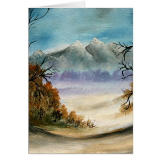 Rocky Mountains landscape oil painting Card