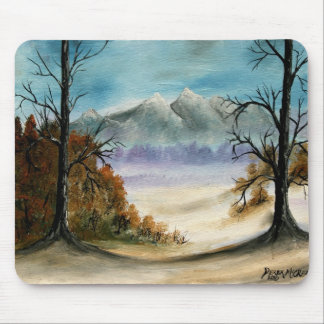 Rocky Mountains landscape oil painting Mouse Pad