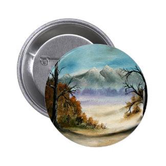 Rocky Mountains landscape oil painting Pinback Button