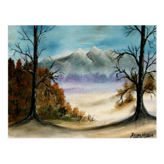 Rocky Mountains landscape oil painting Postcard