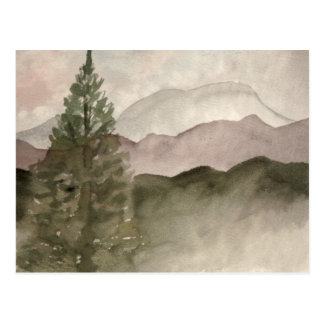 Rocky Mountains landscape painting Postcard