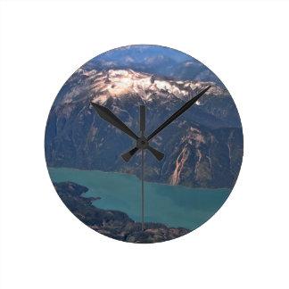 Rocky Mountains Photo Round Clock