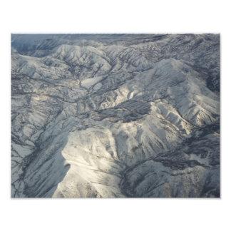 Rocky Mountains Photo Print Winter Snow