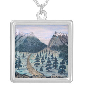 Rocky Mountains Sketch of 1859 Necklace