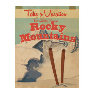 Rocky Mountains,USA Vintage Travel Poster
