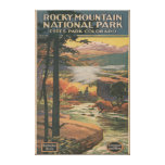 Rocky Mt. Nat'l Park Brochure # 2 Canvas Prints