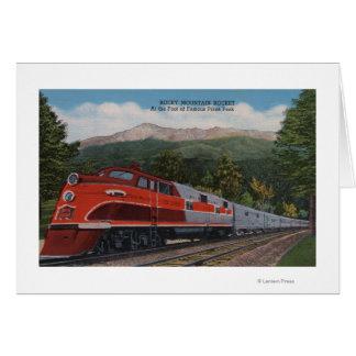 Rocky Mt. Rocket (Train), Pikes Peak, Colorado Card