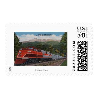 Rocky Mt. Rocket (Train), Pikes Peak, Colorado Postage