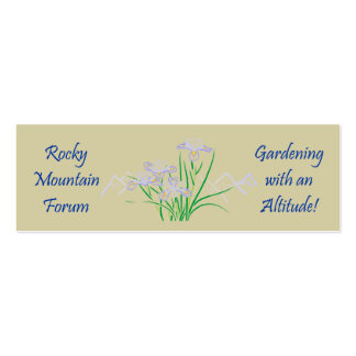 Rocky Mtn #5 Double-Sided Mini Business Cards (Pack Of 20)