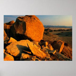 Rocky Outcrop And Desert Valley, Richtersveld Poster