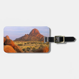 Rocky Outcrop And Plain, Spitzkoppe, Erongo Bag Tag