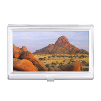Rocky Outcrop And Plain, Spitzkoppe, Erongo Case For Business Cards
