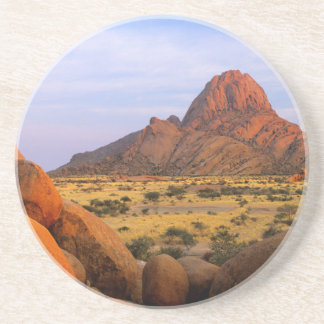 Rocky Outcrop And Plain, Spitzkoppe, Erongo Drink Coaster