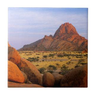 Rocky Outcrop And Plain, Spitzkoppe, Erongo Ceramic Tile