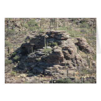 Rocky Outcropping in Tucson Card